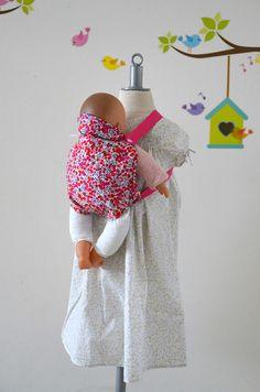 Porte-bébé pour poupée  30 cm   Liberty
