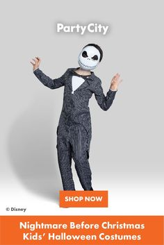 Shop now for all your kids Halloween costumes at Party City. Nightmare Before Christmas Kids, Jack Skellington Costume, Halloween Costumes For Kids, Disney, Party, Fun, Shop, Halloween Costumes For Children, Parties