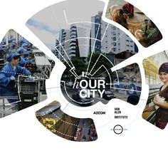 Presented by AECOM and Van Alen Institute, with 100 Resilient Cities — Pioneered by the Rockefeller Foundation, hOUR City is this year's Urban SOS™. Page Layout Design, Poster Design Layout, Magazine Layout Design, Ad Design, Flyer Design, Brochure Layout, Brochure Design, Dashboard Design, Poster Graphics
