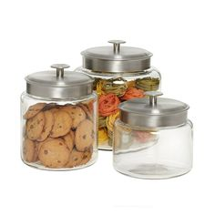 Montana glass canisters at TCS $13-18
