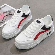 White sneakers women shoes 2020 fashion women sneakers lace-up breathable Brand Name:Upper Material:Fashion Element:Season:JIASHAPUSewingSpring/Autumn White Shoes, White Sneakers, Beige Ankle Boots, Black Leather Pants, Best Shoes For Men, Aesthetic Shoes, Fresh Shoes, Sneakers Women, Cute Outfits For Kids
