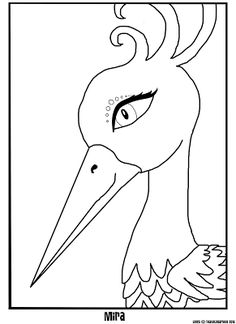 artistic animal jam mira coloring page