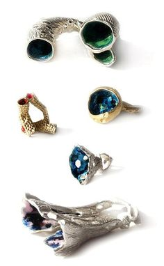 TheCarrotbox.com modern jewellery blog : obsessed with rings // feed your fingers!: EMILI WHITE-UK / Night Sky Jewelry