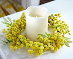 Image for Mimosa Wreath from Bloom