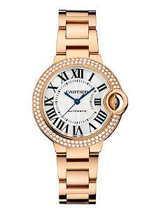 CARTIER Ballon Bleu de Cartier 18ct pink-gold and diamond watch