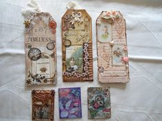 some tags and ATC's.(Edith's creative pieces and bits)