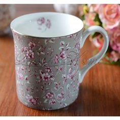 Katie Alice Ditsy Grey Floral virág mintás porcelán bögre