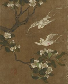 Birds and flowers | 1368-1644 | Ming dynasty | Ink and color on silk | H: 25.9 W: 20.9 cm | China | Gift of Charles Lang Freer | F1911.165i