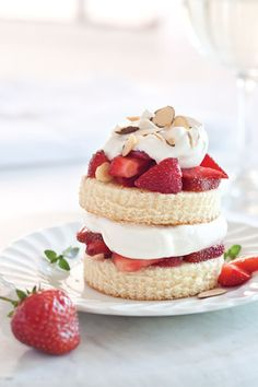 Dinner Party-worthy Strawberry Shortcakes