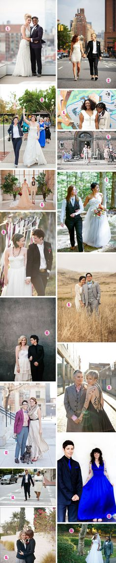 Roundup: Queer Wedding Style A Practical Wedding: Blog Ideas for the Modern Wedding, Plus Marriage