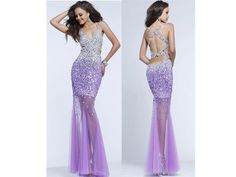 Glittery Purple & Silver Dress With Criss-Cross Back