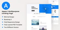 Appeo - Multipurpose Landing Page  -  https://themekeeper.com/item/marketing/appeo-landing-page