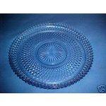 Clear Depression Glass Cake Plates | eBay Image 1 Beautiful Light Blue Depression Glass Cake Plate