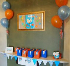 Today's 'Real Party Feature' is a super cute Giggle & Hoot party from one of my lovely customers Kirsty. A gorgeous and fun set up for her . Boy Birthday Parties, 3rd Birthday, Birthday Ideas, 1st Birthdays, Piece Of Cakes, Party Themes, Party Ideas, Party Printables, Candy Bags