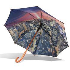 The Manhattan Skyline Umbrella - Hammacher Schlemmer