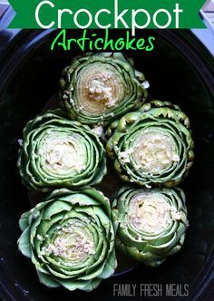 Do you love artichokes but have a hard time cooking them? This Crockpot Artichokes recipe takes all the guess work out of cooking a perfect artichoke.