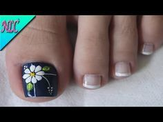 DISEÑO DE UÑAS PARA PIES FLOR - COMO HACER FLORES - FLOWERS NAIL ART - NLC - YouTube