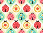 Illustration about Seamless ladybug insects cartoon background pattern. Illustration of flowers, insect, colorful - 54588280 Cartoon Background, Background Patterns, Ladybug Cartoon, Decoupage, Pattern Illustration, Prints, Ladybugs, Seamless Background, Geometric Patterns