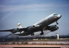 Spantax Convair 990A (30A-5) EC-BJD departing Palma-Son San Joan, circa 1969. (Photo: Manfred Borchers)