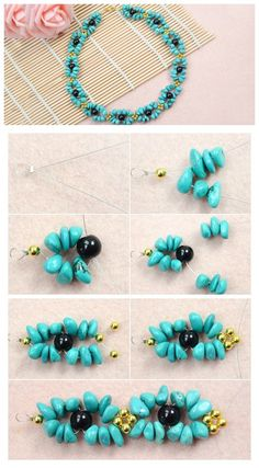 How to Make a Turquoise #Necklace https://fashionornaments.wordpress.com/2015/02/12/how-to-make-a-turquoise-necklace/