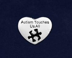 12 Autism Touches Us Pins In Gift Boxes (12 Pins) (P-88-2AT)