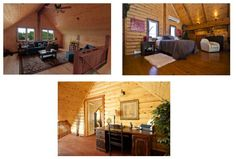 Timber Block home owners have all sorts of ideas when it comes to deciding what to do with their gorgeous loft space! Top left: as a living room! Top right: as a bedroom! and bottom: as an office space! More at www.timberblock.com