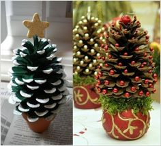 Amazing recycled DIY Christmas crafts are easy, affordable and adorable crafts to do in Christmas season. Christmas holiday is a special and unique time of the Pine Cone Christmas Tree, Christmas Tree Crafts, Holiday Crafts, Christmas Wreaths, Christmas Crafts, Christmas Decorations, Christmas Ornaments, Xmas Trees, Christmas Pasta