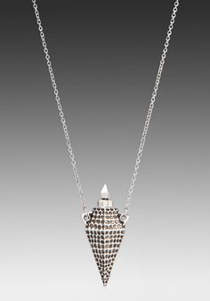 HOUSE OF HARLOW Hammered Diamond Vessel Necklace in Silver at Revolve Clothing - Free Shipping!