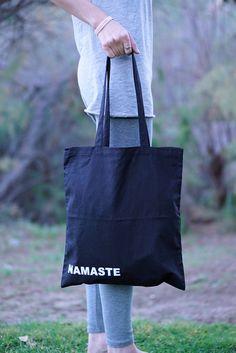 Namaste - Yoga Tote Bag - Yoga bag - Yoga Tote - Yoga Bag - Tote Bag - Cat Lover - Namaste Bag - Yoga Purse - Yoga - Namaste Yoga Bag