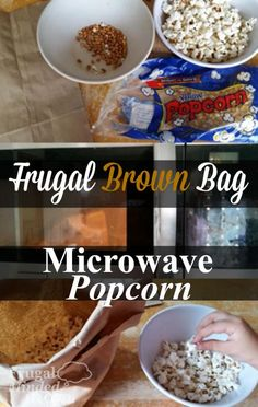 Frugal Brown Bag Microwave Popcorn | Perfect After-School Snack