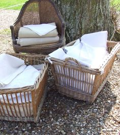 beautiful french laundry baskets!