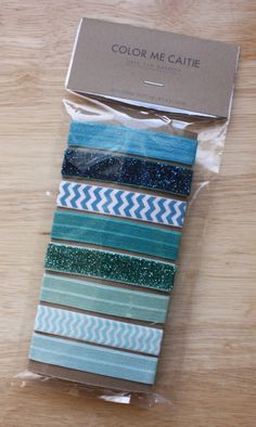 elastic hair ties -- teal party palette / etsy