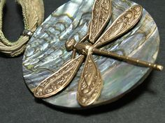 Vintage Button * Dragonfly