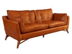 Bantry Sofa 3 Sitzer Design Ledersofa Columbia Brown Vintage Leder Möbel Couch in Business & Industrie, Gastro & Nahrungsmittelgewerbe, Möbel & Einrichtung | eBay