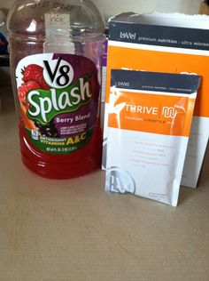 If you are not a milk drinker, the Thrive shake mixed w V-8 Splash is pretty yummy too! Www.Petersoncrystal.Le-vel.com