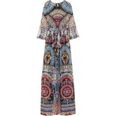 Merida printed silk-georgette maxi dress (61.535 RUB) found on Polyvore featuring dresses, gown, temperley london gown, temperley london, maxi dress, temperley london dress and maxi gown