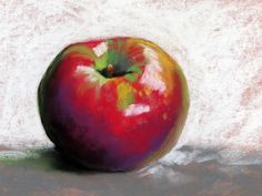 Limited palette apple painting in pastel. Check out my YouTube video!
