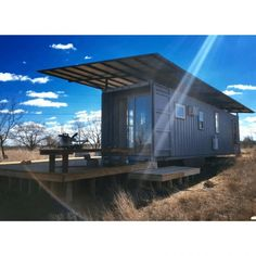 Building a Shed has Never Been so Easy Container Shop, Container House Design, Container Gardening, Shipping Container House Plans, Shipping Containers, Tiny House Nation, Container Architecture, Tiny Cabins, Desert Homes