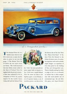 Packard Twin Six Boss Of The Road 1932 - Mad Men Art: The 1891-1970 Vintage Advertisement Art Collection