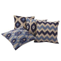 Set of 4 Modern Geometric and Floral Cotton/Linen Decorative Pillow Cover – USD $ 49.99