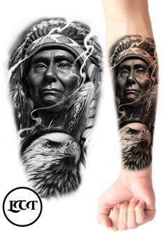 Red Indian Tattoo, Native Indian Tattoos, Western Tattoos, Native American Tattoos, Full Leg Tattoos, Wolf Tattoos, Ozzy Tattoo, Be Brave Tattoo, Hannya Mask Tattoo