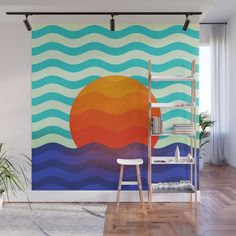 Buy #019 OWLY swimming at the sunrise Wall Mural by owlychic. Worldwide shipping available at Society6.com. Just one of millions of high quality products available. #frame #building #canvas #canvasprint #walldecor #prints #artwork #print #canvas #poster #print #wallappers #background #owlychic #tapestry