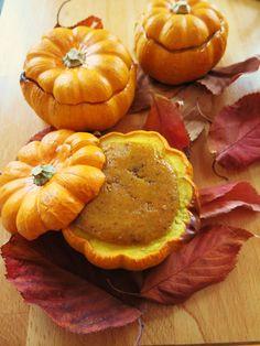 Tarte au potiron dans une mini-citrouille (Jack Be Little) - Pumpkin pie in a mini-pumpkin