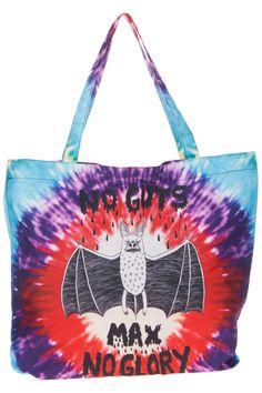 """Tie-dye """"Letters & Flying Pig"""" Handle  Bag"""