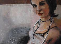"www.sierocinska.pl  ""Girl"" Jadwiga Sierocinska Paintings, Jewelry, Art, Fashion, Art Background, Moda, Jewlery, Paint, Jewerly"