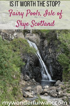 Continue reading to learn if visiting the Fairy Pools on the Isle of Skye in Scotland, is worth the visit or if you should skip it to spend more time exploring other areas. #Fairypools #IsleofSkye #Scotland #UK #highlands