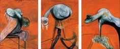 """Francis Bacon, """"Three Studies for Figures at the Base of a Crucifixion"""""""