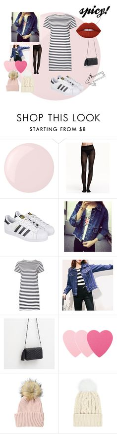"""Geen titel #55"" by trendygirlxx on Polyvore featuring mode, Essie, H&M, adidas, Octavia, M.i.h Jeans, Zara, Sephora Collection, Eugenia Kim en Lime Crime"