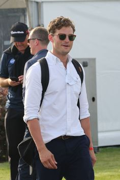 Jamie Dornan enjoying a day out at the D+D Real Czech Masters Golf Tournament held at the Albatross Golf Resort in Prague. August 27, 2015.  http://everythingjamiedornan.com/gallery/thumbnails.php?album=38  https://www.facebook.com/everythingjamiedornan/