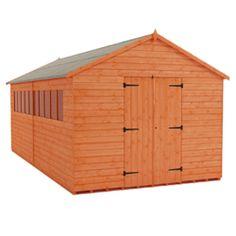 tiger xl heavyweight workshop shed garden workshop sheds